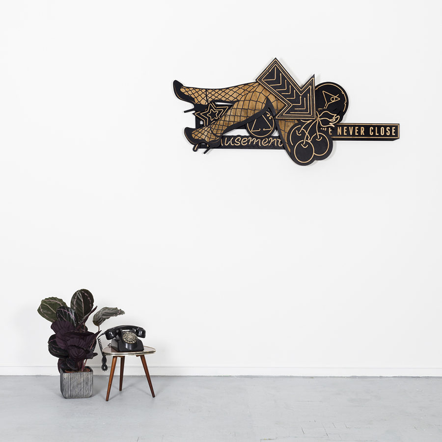 Studio Ruwedata - we never close - wall sculpture artwork