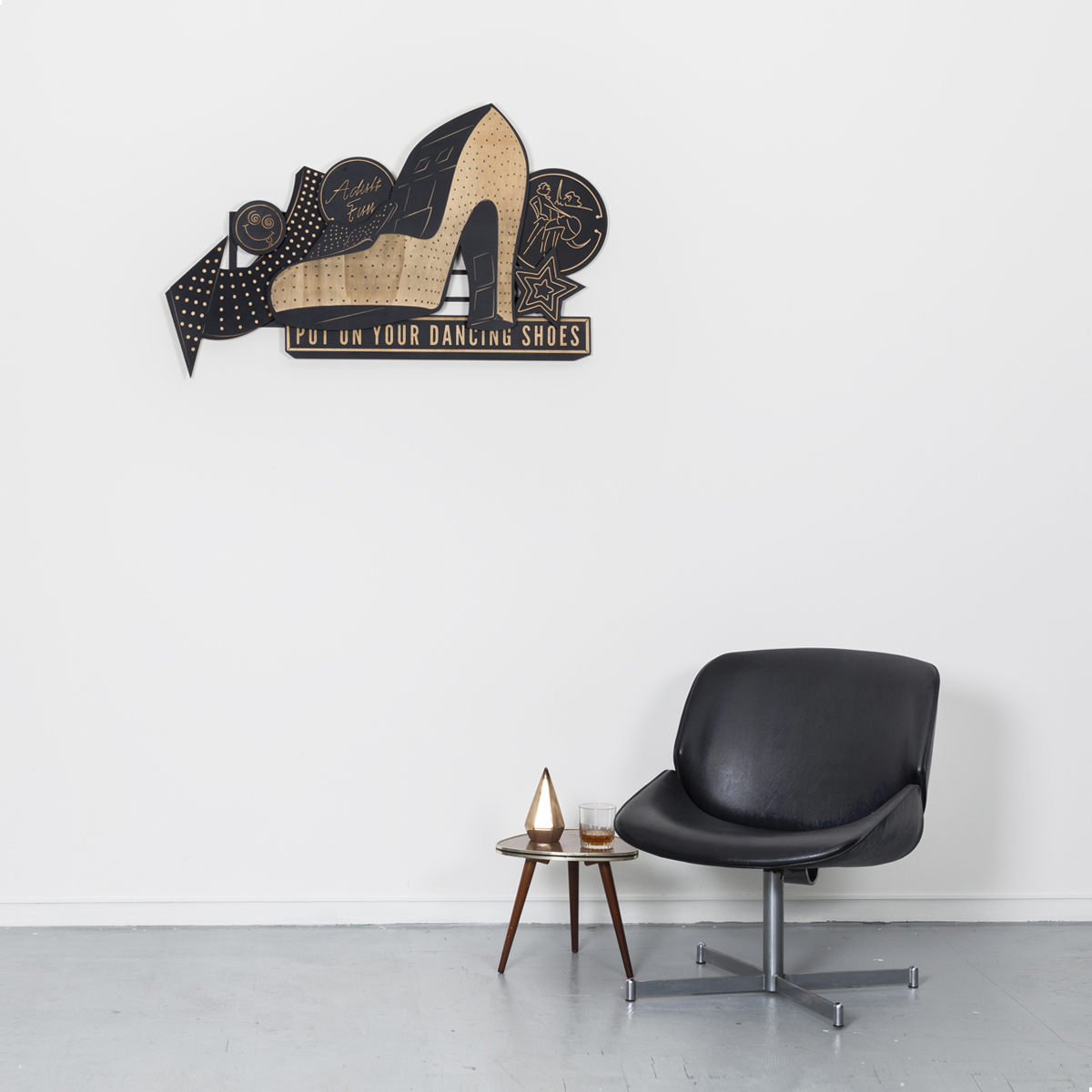 Studio Ruwedata - put on your dancing shoes - wall sculpture artwork