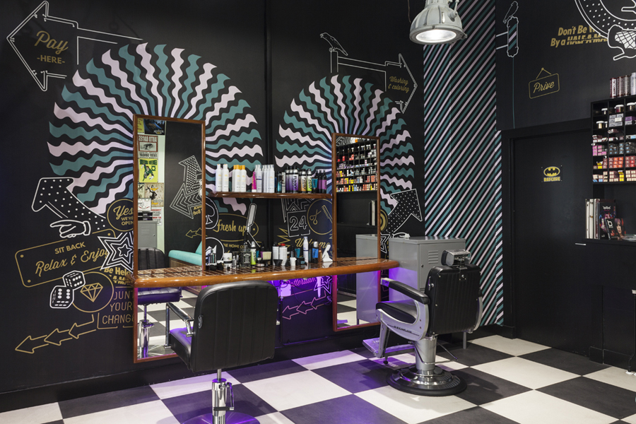Studio Ruwedata - Mudly's barbershop - wall art