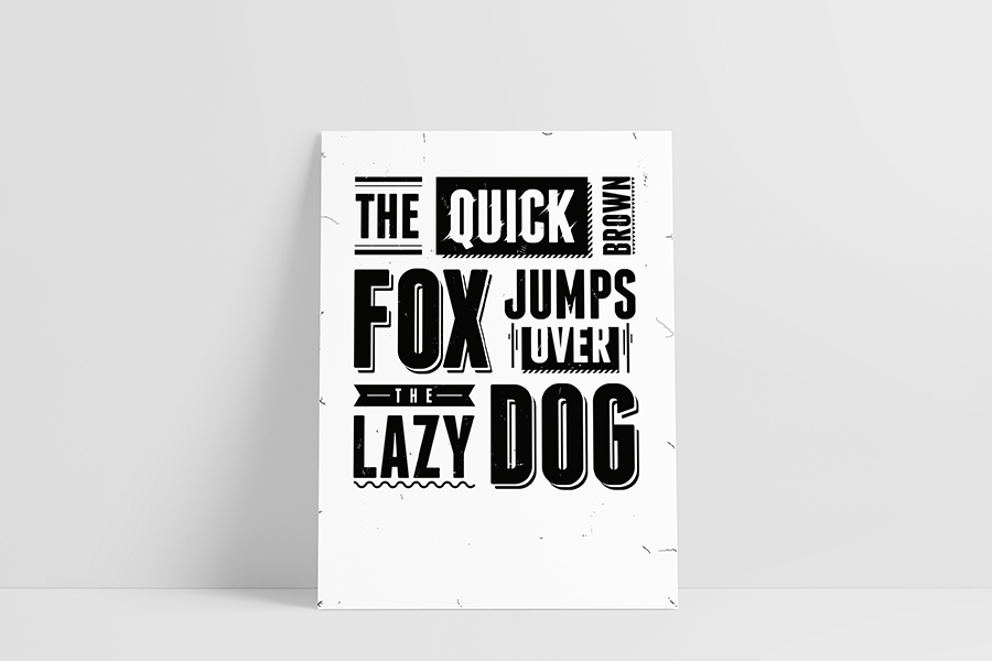 Ruwedata poster - The quick brown fox jumps over the lazy dog